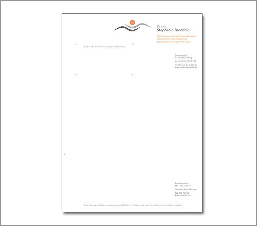 Praxis Stephanie Bardehle – Briefpapier