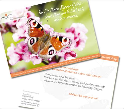 Praxis Stephanie Bardehle – Flyer/Postkarte