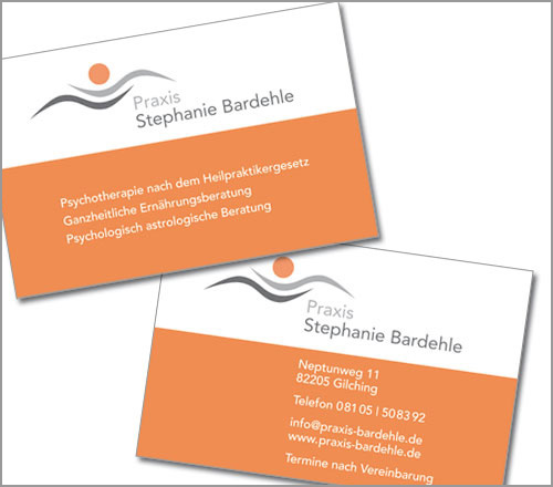 Praxis Stephanie Bardehle – Visitenkarte