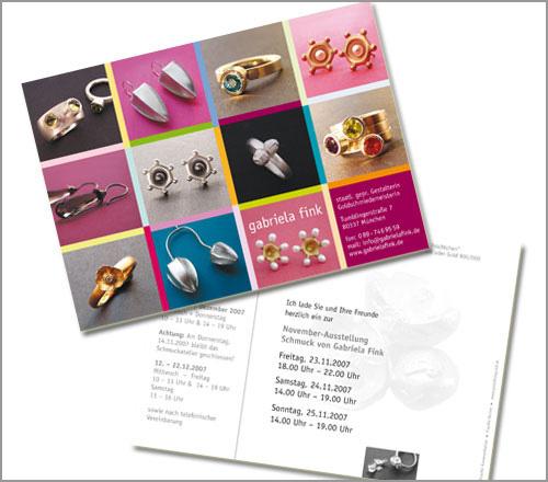 gabriela fink | SCHMUCK – Postkarte...Ausstellungs-Einladung