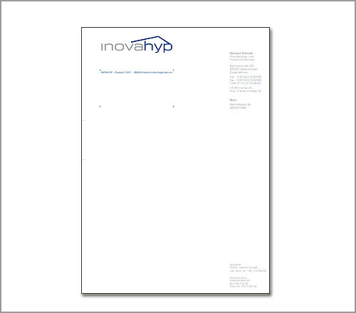 Inovahyp – Briefpapier
