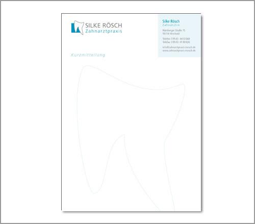 Zahnarztpraxis Rösch – Kurzmitteilung