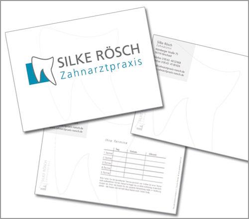 Zahnarztpraxis Rösch – Terminkarte/Postkarte