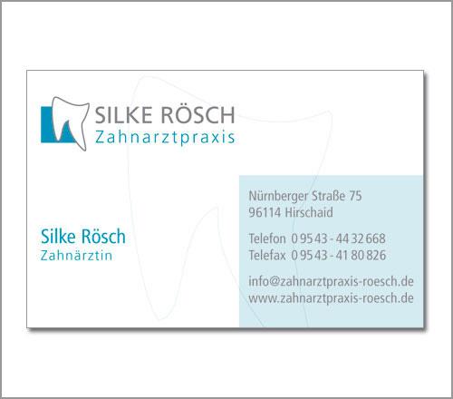Zahnarztpraxis Rösch – Visitenkarte