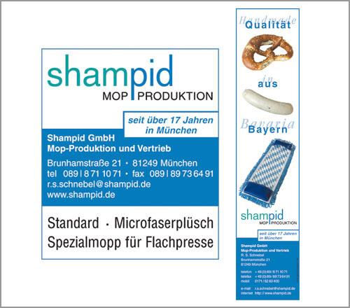 Shampid Mopproduktion – Anzeigen