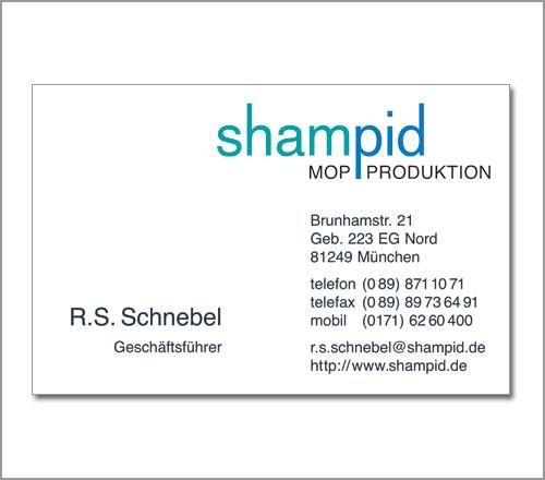 Shampid Mopproduktion – Visitenkarte