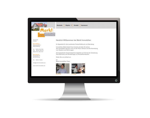 Webauftritt – Merkl Immobilien