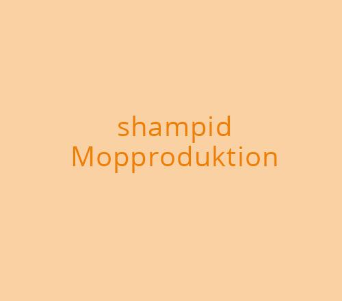 Print-Design – shampid Mopproduktion
