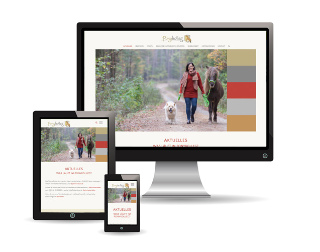 Webauftritt (Wordpress) – Xenia Brunk | Ponykolleg