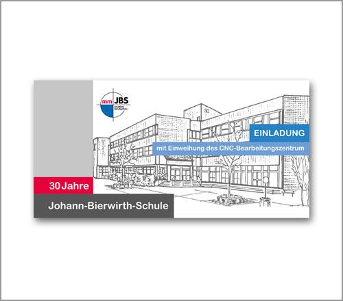 Berufsschule JBS Memmingen – Einladungskarte