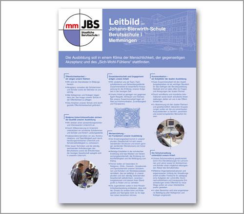 Berufsschule JBS Memmingen – Plakat