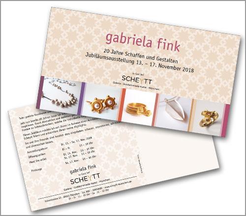 gabriela fink | SCHMUCK – – Einladungskarte