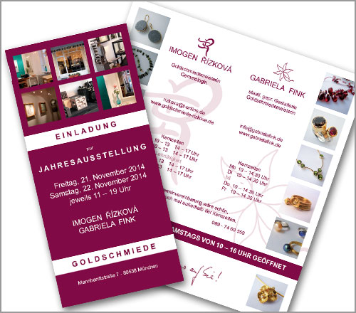 GOLDSCHMIEDE | Rizkova | Fink – Einladungskarte