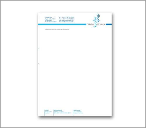 kupfer|rösch Dentaltechnik – Briefpapier