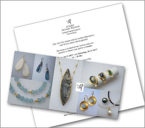 Atelier Imogen Rizkova – Einladungskarte
