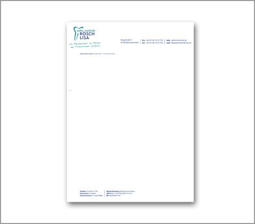 Zahntechnick Lisa Rösch – Briefpapier