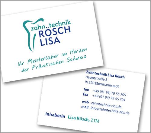 Zahntechnick Lisa Rösch – Visitenkarte