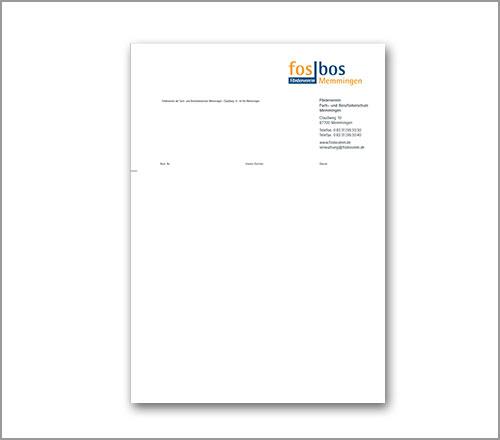 fosbos Memmingen – Briefpapier Förderverein