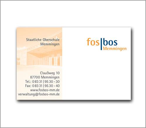 fosbos Memmingen – Visitenkarte