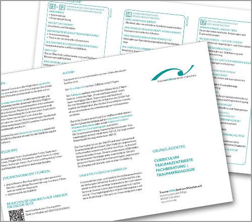 "Trauma Hilfe Zentrum München e.V. – Flyer ""Curriculum"""