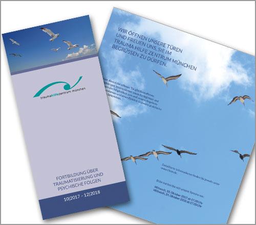 """Trauma Hilfe Zentrum München e.V. – Flyer """"Jahresprogramm 2018"""""""