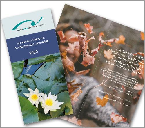 """Trauma Hilfe Zentrum München e.V. – Flyer """"Jahresprogramm 2020"""""""
