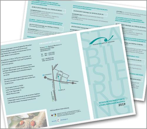 """Trauma Hilfe Zentrum München e.V. – Flyer """"Stabilisierung 2019"""""""