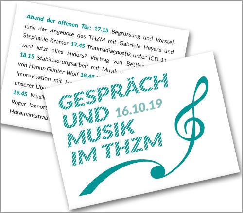"""Trauma Hilfe Zentrum München e.V. – Postkarte """"Abend der offenen Tür"""""""