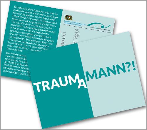 "Trauma Hilfe Zentrum München e.V. – Postkarte ""Männerberatung"""